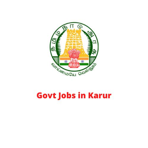 Govt Jobs in Karur