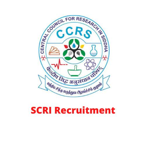 SCRI Chennai Recruitment